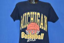 vintage 90s MICHIGAN WOLVERINES BASKETBALL NCAA NET t-shirt COLLEGE MEDIUM M