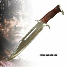 """18"""" Licensed Rambo III Bowie Knife w/ Sheath-FREE PRIORITY SHIPPING-17 MCRB3"""