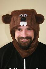 Groundhog day hat, warm, handmade, plush felt, groundhog day Original Phil hood