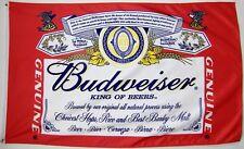 Budweiser King Of Beer Flag 3' X 5' Premium Silk Screened Indoor Outdoor Banner