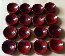 5PCS Wooden Stand Display 20-50mm Sphere Crystal Ball Eggs Minerals Polished AA