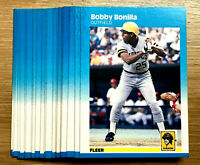 1987 Fleer Glossy #605 BOBBY BONILLA RC ~  20 CARDS LOT ~ ROOKIE CARD ~ OF / 1B