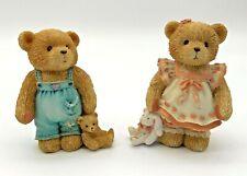 More details for set of 2 cherished teddies child of kindness child of hope figurine vintage 1993