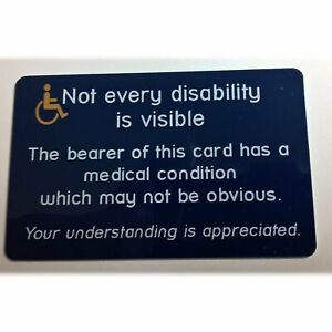 Invisible disability Card | Hidden disability Card | Free P&P