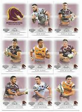2018 NRL Elite Brisbane BRONCOS 9 Card Mini Team Set