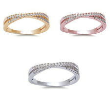 CZ Stackable Infinity Anniversary & Wedding Promise 925 Sterling Silver Ring