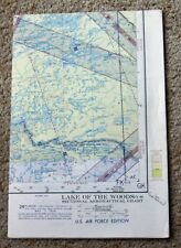 Vintage Aeronautical Chart Lake of the Woods Sectional 1956 US Air Force Edition
