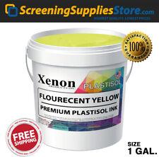 Xenon Fluorescent Yellow Plastisol Ink For Screen Printing 1 Gallon 128oz