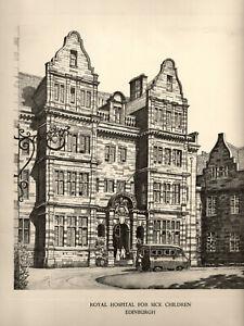 ROYAL HOSPITAL for SICK CHILDREN, EDINBURGH -  after GRAHAM CLILVERD, c. 1950s