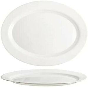 CoK Elba White Oval Dinner Plates - 30cm - Set of 6