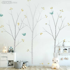 Birch Tree Stencil Pack -Inc.Leaves & Birds. Create wall mural - add paint 10691