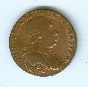 GREAT BRITAIN- 1793 JOHN WILKINSON IRON MASTER-- 1/2 PENNY-CIRCULATED