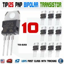 10pcs Tip125 Darlington Power Transistor Bipolar Pnp 5a 60v 65w To 220 St