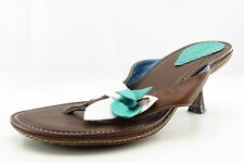 Indigo by Clarks Size 6.5 M Brown Flip Flop Leather Women Sandal Shoes