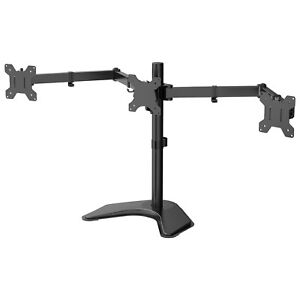 """Triple Arm Desk Mount Bracket Stand LCD LED Monitor Computer 13""""-24"""" Screen TV"""