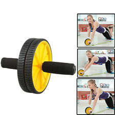 New Dual AB Wheel Abdominal Fitness Gym Roller Workout Exercise Black