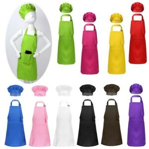 CREPUSCOLO Kids Apron Chef Hat Set Animal Girls Boys Aprons with Adjustable Neck Strap Kitchen Cooking Aprons Toddler Aprons for Cooking Baking Painting Gardening