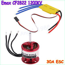 Hot sale EMAX CF2822 1200KV Outrunner Motor&ESC 30A Airplane Free shipping