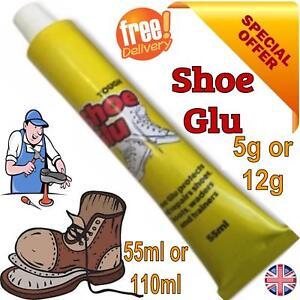 SHOE GOO SHOE GLUE GLU OR NOZZLE MEND REPAIR TRAINER BOOT HEELS SOLES LEATHER