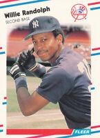 Willie Randolph 1988 Fleer #218 New York Yankees card