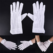 2pcs White Formals Gloves White Honor Guards Parade Santa Women Mens Inspection