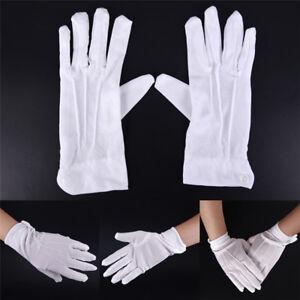 1Pair White Formal Gloves White Honor Guard Parade Santa Women Men UTRI