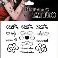Waterproof Temporary Lovely Love Heart Tattoo Stickers Body Art Decal Removable
