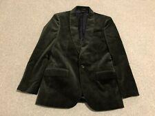NWT J Crew Ludlow Slim Fit Velvet Blazer Jacket Mens 36S Dark Green One Button