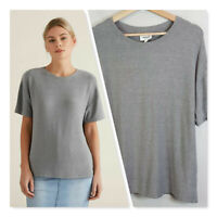 [ SEED HERITAGE ] Womens Grey Drop Shoulder Tee  | Size L or AU 14