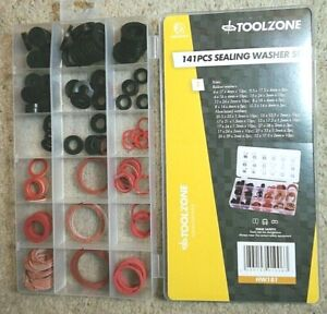141pc Assortment Box of  Rubber Washer & Fibre Washers