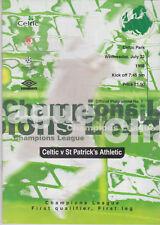 Programma / Programme Celtic Glasgow FC v St.Patrick's Athletic 22-07-1998 UEFA