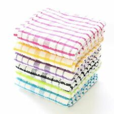 3x 6x 12x Pack 100% Cotton Terry Tea Towels Kitchen Dish Cloths Cleaning XL