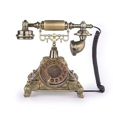 Rotary Dial Phone French Telephone Victorian Style Corded Parlor Office Louis