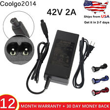 Scooter Charger for HoverBoard 42V 2A Charger for all 36V Scooters Adapter