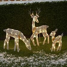 3-Pc. Lighted Deer Family - Outdoor Christmas, Winter Decoration for Front Yards