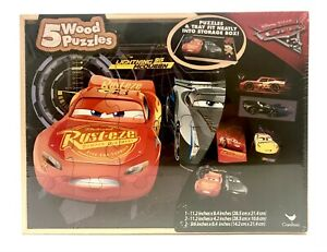 Cars 3 (Cardinal) Wooden Puzzle 5 Pack NEW IN BOX!