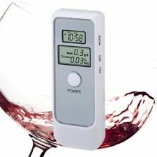 HeLics Dual Display Digital Breathalyzer Portable Alcohol Tester White-USASELLER