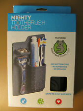 Tooletries Mighty Toothbrush Holder Charcoal Silicone Product designed Australia