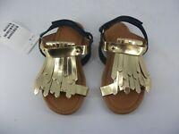 H&M Gold Fringed Tassel Sandals UK 8.5 EU 26 JS094 LL 12