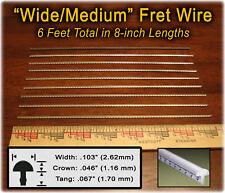 "Cigar Box Guitar Parts: 6 feet of Wide/Medium Fret Wire Straight 8"" Lengths"