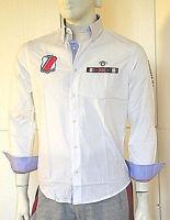 Camicia Uomo Ragazzo OVERMAIL B342 Bianco Tg S M L XL XXL veste piccolo