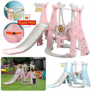 Kids Garden Swing Slide & Climber Set Toddler Indoor/Outdoor Playground Play Toy