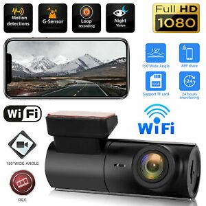 WIFI Dash Cam HD 1080P Car DVR Camera Video Recorder Night Vision G-sensor 170°