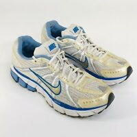 Nike Air Pegasus 25 Bowerman Series Womens Size 9.5 White Blue Running Shoes