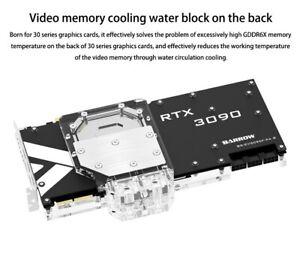 Barrow RTX 3000 Watercool GPU Backplate Sandwich Block 3080 3090