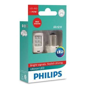 PHILIPS Ultinon P21W LED 12V 11498ULRX2 Stop Light ROUGE Intense SET