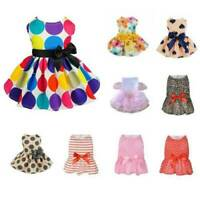 Summer Pet Clothes Princess Dress Small Dog Cat Bow Skirt Puppy Tutu Costume New