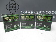 Hiflo Premium Oil Filter HF204 - 3 Pack - FZ1 VZ1600 ZX12 Ninja VN2000 Vulcan