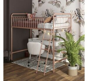 loft bunk bed twin   rose gold metal   better homes and gardens  