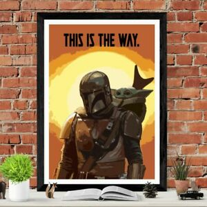 The Mandalorian Star Wars Poster Art Picture Print